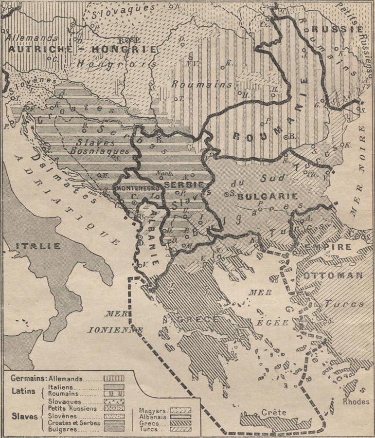 Carte Italie Balkans.Les Crises Des Balkans
